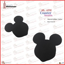 Mickey leather wine cup coaster