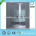Temperli baskılı cam köşe duş kabinler, basit duş kabini, kapalı duş