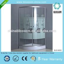 Tempered printed glass corner shower enclosure,simple shower cabin,enclosed shower room