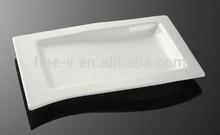 Porcelain of rectangular slope plate