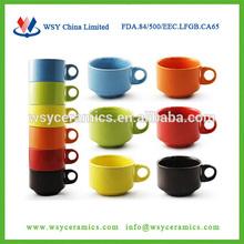 Personalized espresso and cappuccino cups,ceramic stacking mugs