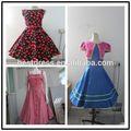 2015 novos estilos plus size check out rockabilly vestido floral impressão rockabilly vestido balanço retro vestido de festa