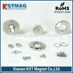 "1/2"" od x 1/8"" id x 1/16"" thick Nickel Plated ring neodymium magnet"