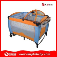 EN716 certification safety travel cot bed baby playpen,baby play pen,baby playpens DKP201549