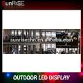 السيارات exhibitioin رائعة بالألوان الكاملة للماء شاشة عرض led الإعلان