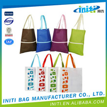 Waterproof eco-friendly top quality fashionable shopping bag manufacture