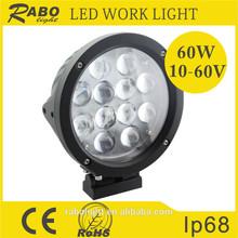 7 inch led head light led driving lamp led flood light 60w LED work lamp
