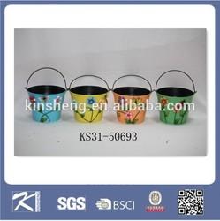 Garden ornament metal material bonsai flower pots wholesale