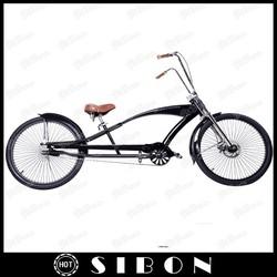 "SIBON 26"" disc brake mens beach cruiser with long frame"