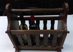 new novelty wine rack antique Wine Carrier handcrafted wine rack