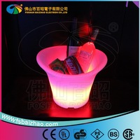 Plastic Wine Illuminated Buckets With Stand LED Glowing Ice Bucket