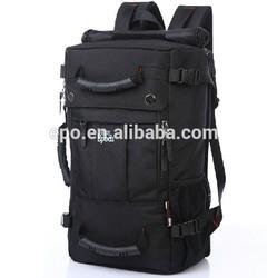 Custom single strap backpack black,big capacity hiking backpack travel rucksack
