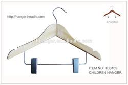 Shaped children/kids skirt and trouser/top/clip wooden hangers
