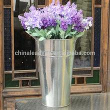 Home designs large metal floor galvanized vase