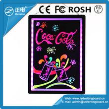 [ZD] 60*80cm or customized acrylic flashing advertising led display boards