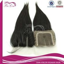 Alibaba Express cheap human hair lace closure 3 part lace closure virgin brazilian straight lace closure