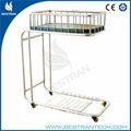 Bt-ab107 de acero inoxidable cama de hospital infantil cuna infantil pediátrico de la cama cuna del bebé del hospital cama de hospital de bebé cuna