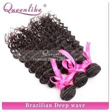 Hair extensions dark brown curly human brazillian deep curly hair