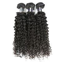 100% Best Quality Brazilian Curly 16 Inch 3 Lots Brazilian Human Hair Weave