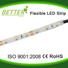 High quality 12V 2.4w/m SMD 3528 warm white cuttable flexible LED strip lights