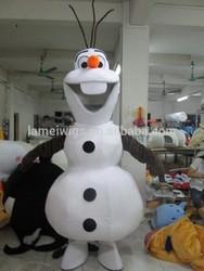 CS50009 frozen snowman olaf mascot costume,frozen olaf costume,snowman olaf mascot costume in frozen