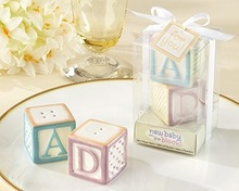 baby blocks salt and pepper shakers favors baby shower
