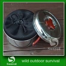 cheap outdoor orange camp pot cooking