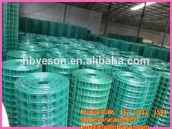 dark green pvc coating/0.6mmx10mmx1mx25m/19kg green welded wire mesh