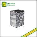tela no tejida del cajón de almacenamiento de estanterías con marco de metal