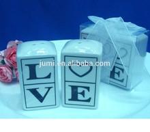 Love letter salt and pepper shakers set wedding gift