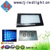 Quad Band 165W LED Aquarium Lighting Blue 460nm / White 14000K 1:1 LED Aquarium Light Dimmable with Lens for Coral Reef Tank