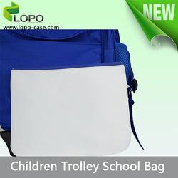 Blank DIY printing sublimation kids trolley school bag