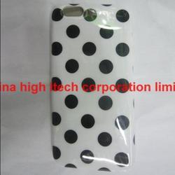 Fashion Polka Dot Gel TPU Glossy Soft Case Cover Skin for iPhone 6 Plus
