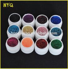 12 Color Shiny Glitter Shimmer Spangles Nail Art UV Gel for Acrylic Nails