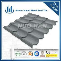 Nuoran colorful stone coated metal sheet roof tile/terracotta metal roof tile