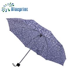 Soft rubber coated handle 3 foldable portable tiny umbrella