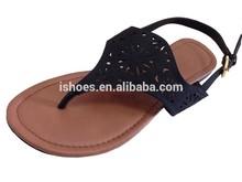 2015 new design laser hollow carved upper fashion flat sandals