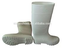 white pvc rain boots /wellington boots/pvc rain boot for food industry