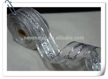 2015 Beacutiful Nylon ribbon with silver line
