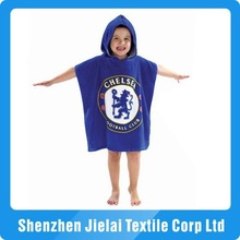 100% cotton velour kids hooded beach towel