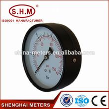 Black steel air compressor different type of pressure gauge
