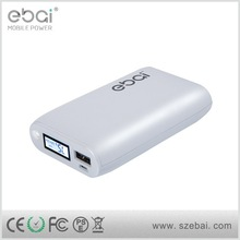 Shenzhen factory Ebai colored power bank with unique package proved by ce rohs fcc iso support oem odm power pack