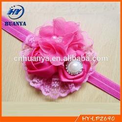 Baby Headbands Big Flower Headband Lace hairband Infant Children hair accessories Photo Prop