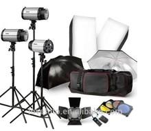 Godox 250sdi Studio Flash Three Lamp Set 250w Photographic Photography Equipment Soft Box