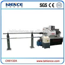 New lathe machine bar feeder automatic feeding cnc lathe with hydraulic chuck CK6132A