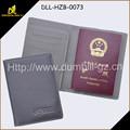 2015 de moda de la PU cubierta de cuero del pasaporte