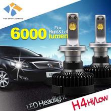super white 6000k h4 bulb led car h4