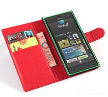 PU wallet leather case for nokia lumia 730