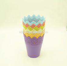 Hot colorful plastic plant pot for garden