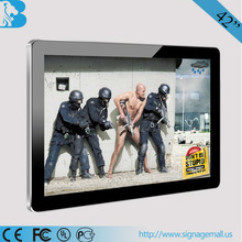 42 inch TFT and indoor application wall mounted lcd advertising player